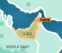 UNITED ARAB EMIRATES map